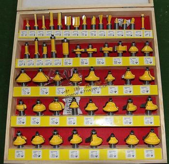 Pro-Grade 50pcs Tungsten Carbide 1/2 inch Router Bits Set with wooden case