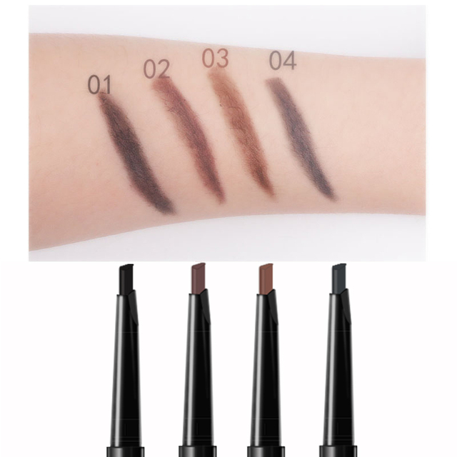MIXDAIR Eyebrow Enhancer With Stencil Eyes Make Up Tools Cosmetics Natural Long Lasting Paint Waterproof Black Eyebrow Pencil 2