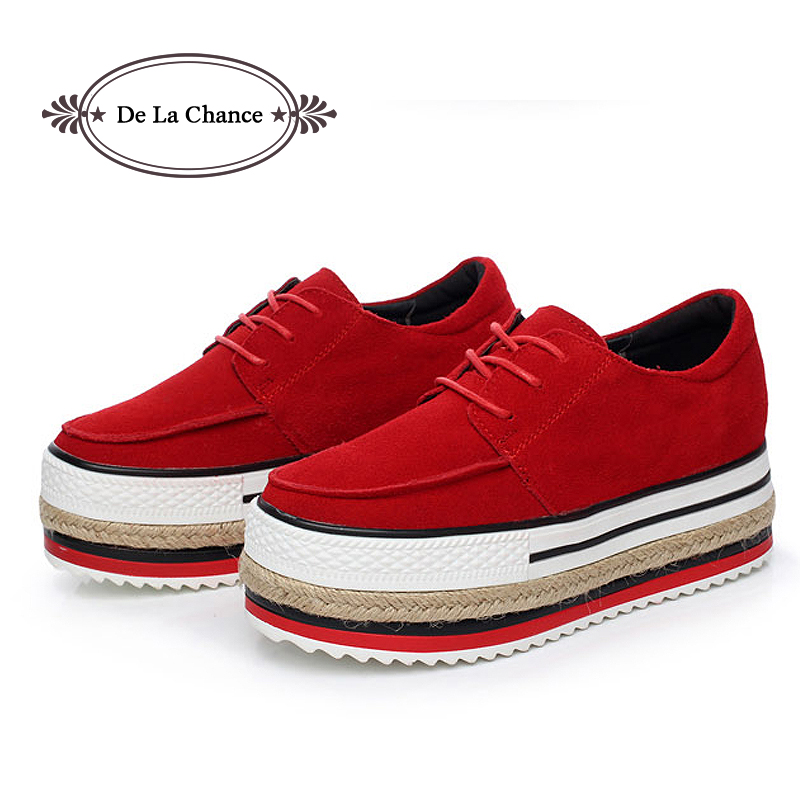 Genuine Leather Women Shoes Brand Designer Creepers ...