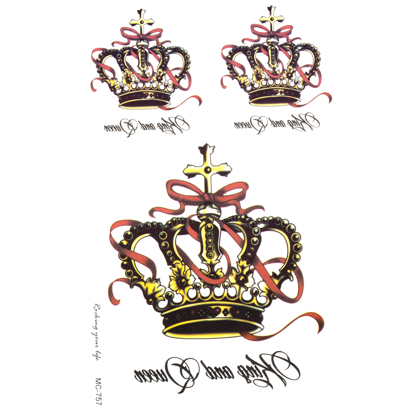 e250ac6b8b23c crown Temporary Tattoo Sticker For Body Luxury Lettering Style Tattoo Sex  Products