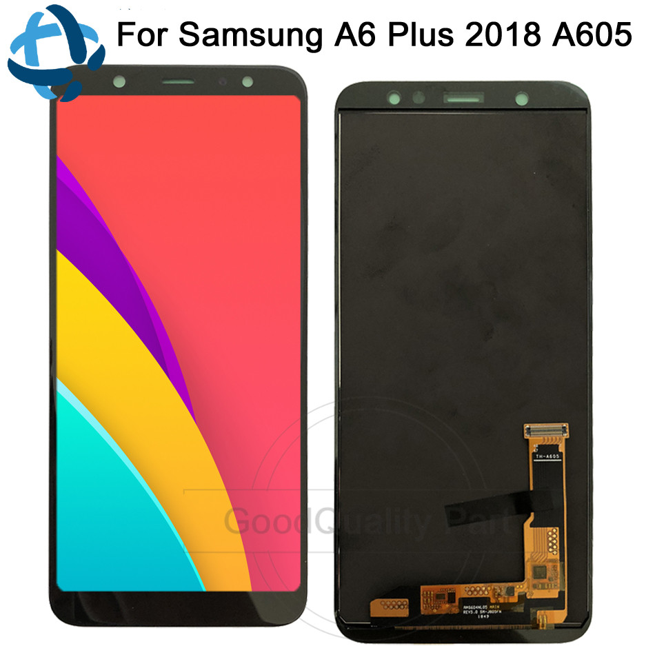 Amoled For Samsung Galaxy A6 Plus 2018 LCD display Touch Screen Digitizer Assembly A605 A605fd replacement