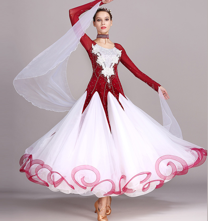 Standard Ballroom Dancing Dresses Adult New Style 5 Color Waltz Skirt High Quality Women Ballroom Competition