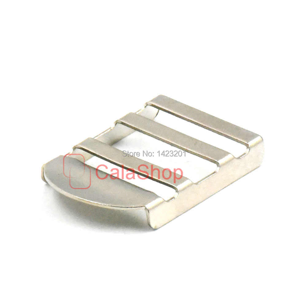 """10 Pçs/lote 25mm 1 """"de Metal Bloqueio de Tensão Triglides Slides Webbing Correia de Couro Sacos Mochila Fivela Ajustador"""