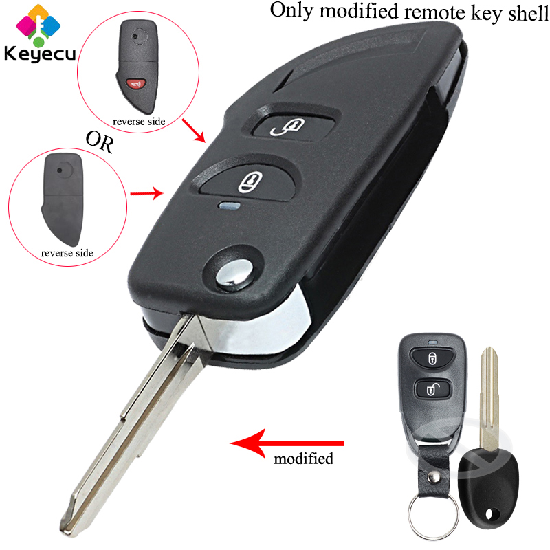2PCS Keyecu Remote 3 Button Key Pad Rubber for Hyunda I30 IX35 Kia Seed Sportag