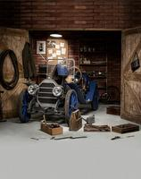 ヴィンテージ古い車のテーマ木材ドア写真の背景ビニール布高品質コンピュータプリント壁写真撮影の背景