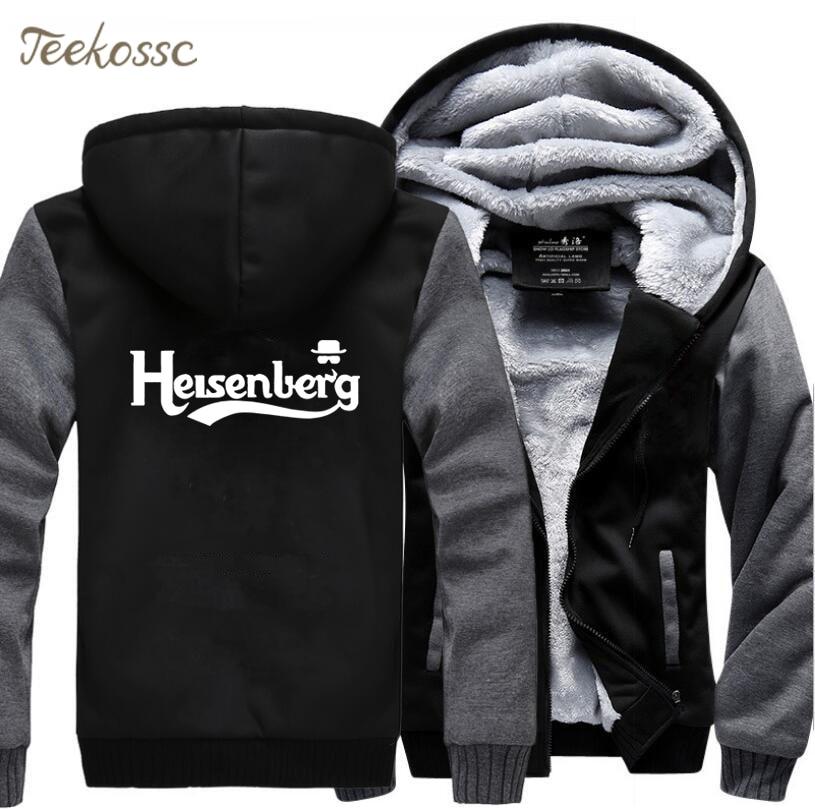 Breaking Bad Heisenberg  Hoodies Men 2018 New Fashion Winter Fleece Thick Sweatshirts Hombre Coat Casual Jackets Sportswear Male