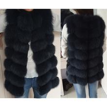 Free shipping 2017 new European women fox fur vest waistcoat 100 natural fox fur coat winter