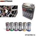 Epman-m12 x1.5 epman auténtico acorn rim racing tuercas de la rueda tornillo 20 unids coche para toyota para volk ep-nu7000-1.5
