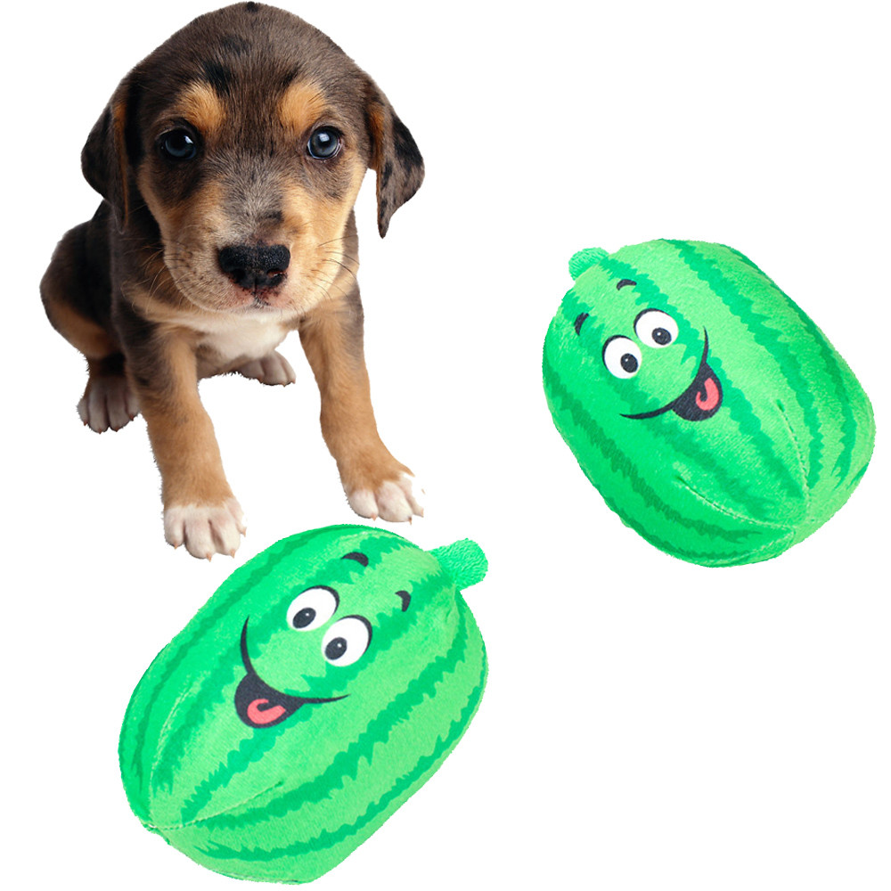 Smiley Puppy Dog Squeaky Chew Toy Novelty Mouth Gift Play ... |Fun Dog Toys