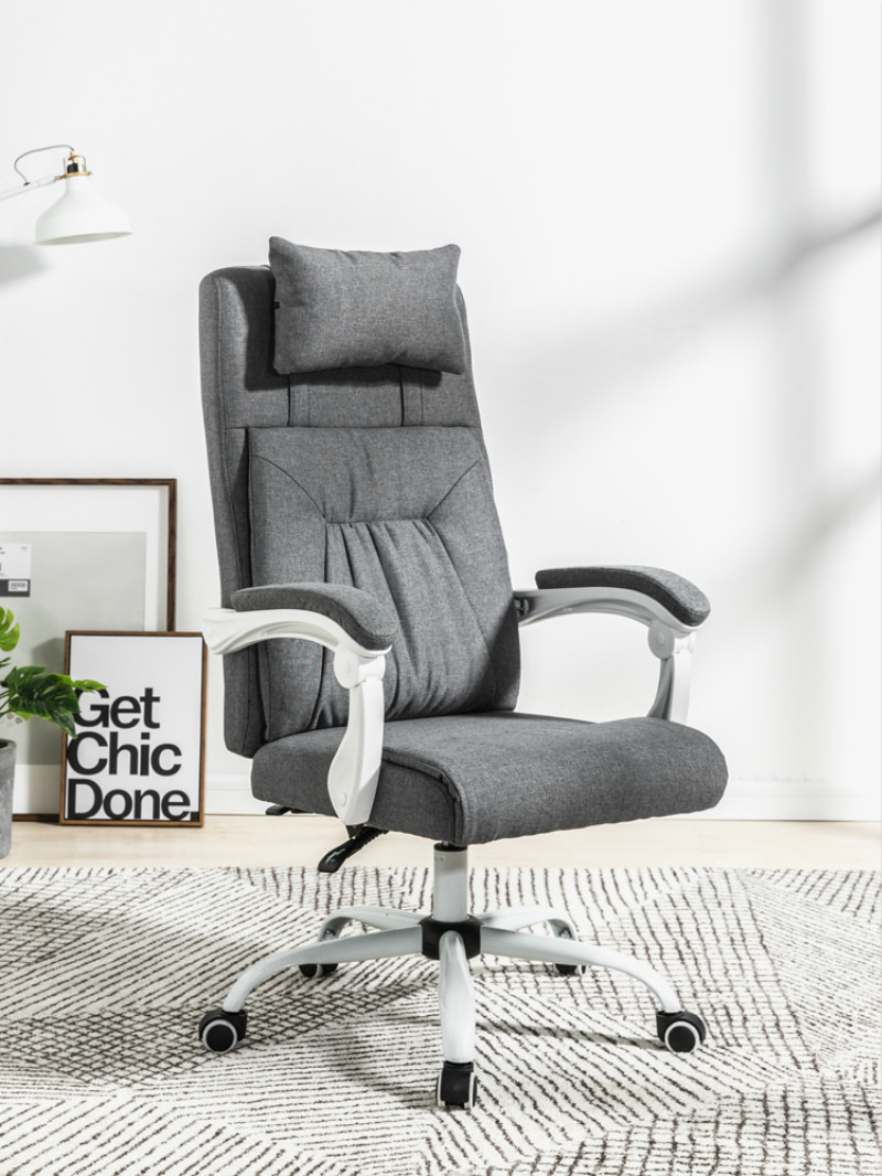 Computer Chair Active Headrest Home Boss Seat Lounge Pu Chair Office Seat Swivel Chair E-sports Fabric Chair Comfortable Cushion