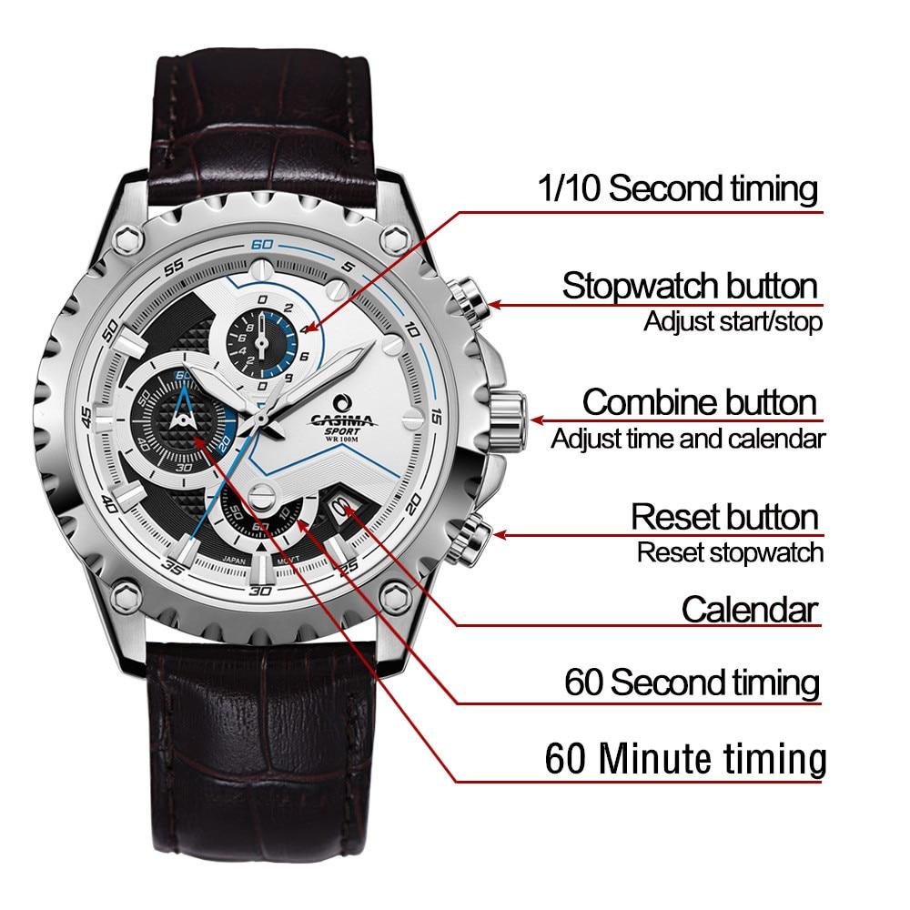 Новый Элитный бренд часы Для мужчин модные роскошные Многофункциональный очаровательные спорта Для мужчин кварцевые часы waterproof100MCASIMA #8203 - 2