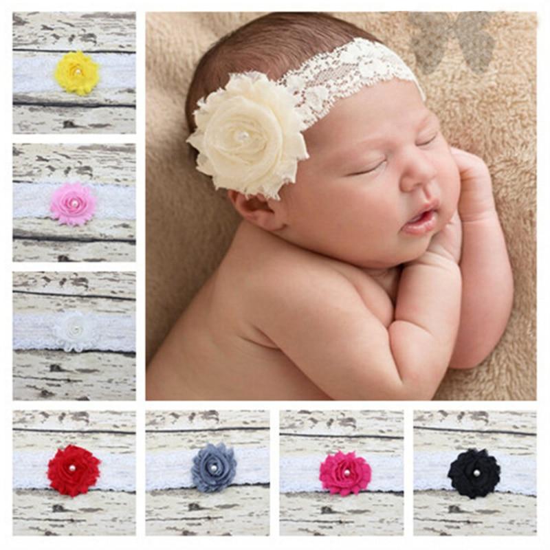Kids Princess Lace Pearl Headband Chic Flower Girls Headband Hair Bow  Flower Headband for Newborn Girl Hair Accessories 2d1c1e4d18d0