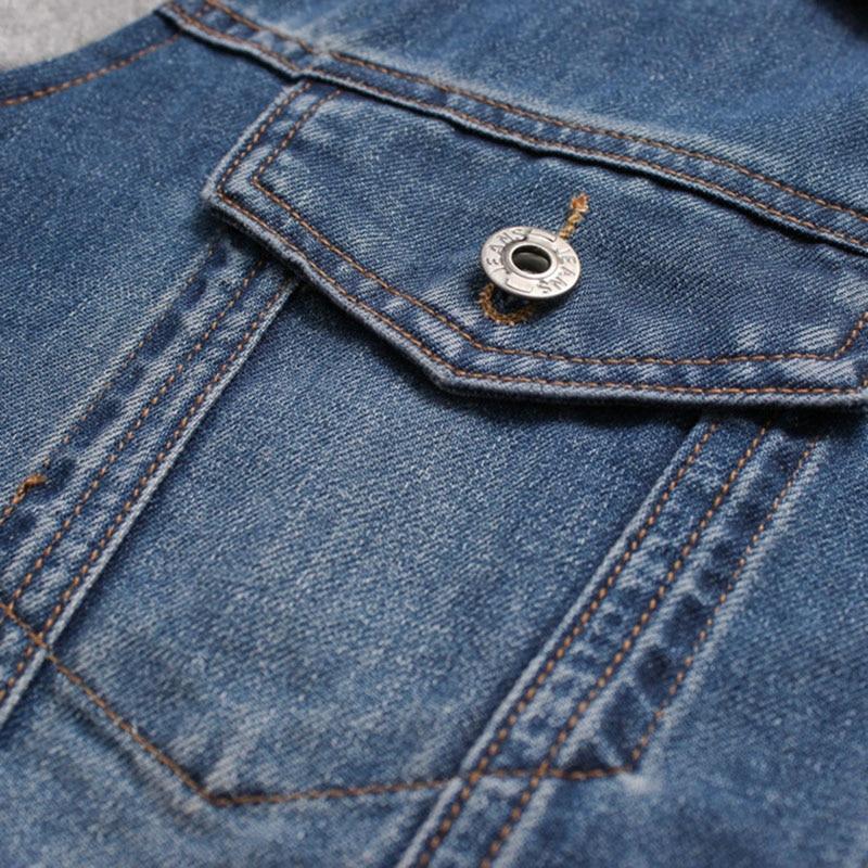 Denim Jacket άνδρες με κουκούλα αθλητικά - Ανδρικός ρουχισμός - Φωτογραφία 5
