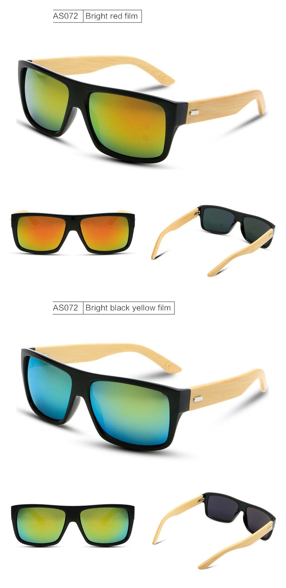 c4ac00048 Maxmessy للجنسين الخيزران نظارات الرجال النظارات النساء العلامة التجارية  مصمم مرآة الخشبية الخشب الأصلي نظارات التنزه نظارات AS072