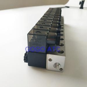 "Image 5 - GOGO 3 WAY PNEUMATICอลูมิเนียมsolenoidวาล์ว 3V1 06 พอร์ต 1/8 ""BSP AC DC Microควบคุมแก๊สManifoldวาล์ว"