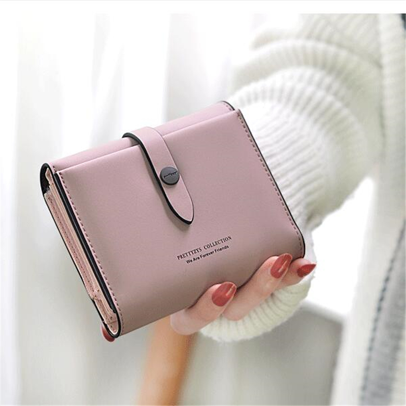 New Style 2018 Women Wallets Short Hasp Coin Pocket Top Quality Brand Pu Leather Purse Coin Card Holder Small Wallet For Women cute cats coin purse pu leather money bags pouch for women girls mini cheap coin pocket small card holder case wallets