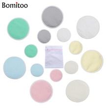 [Bomitoo] 14 db Bambusz Mellpadi ápolópárna Mum mosható Újrafelhasználható PUL szoptatás Baba pad Nagykereskedelmi ápolási párna