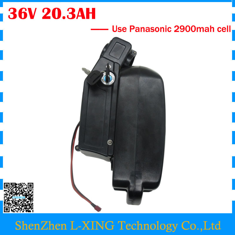 Free customs duty 36V Electric Bike battery 36V 20AH Lithium battery use Panasonic 2900MAH cell 15A BMS with 42V 2A Charger us eu free customs duty lithium 48v 1000w e bike battery 48v 17ah for original panasonic 18650 cell with 5a charger 30a bms