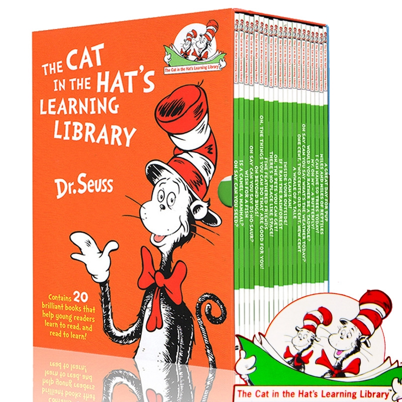 20 livres/ensemble dr Seuss chat dans la bibliothèque d'apprentissage du chapeau livres d'histoire anglais pour enfants livre de coloriage Aprendendo Brinquedos