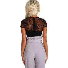 2019 Black Sexy Lace Bodysuit