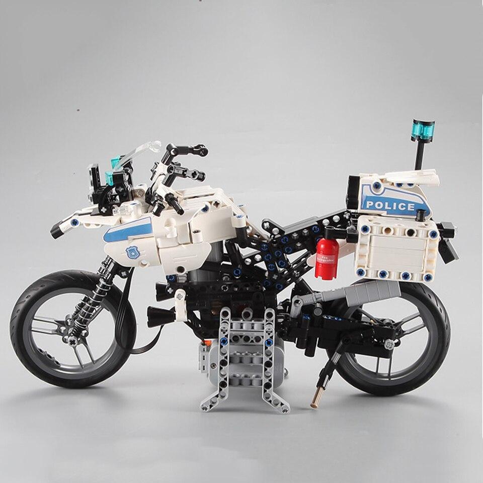 Legoings moto Police moto technique modèle moteur bloc de construction brique jouets enfants cadeaux
