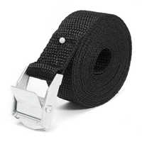 Car Luggage Bag Cargo Lashing Strap Zinc Alloy Zinc Nylon Car Tension Rope Tie Down Strap Strong Ratchet Belt Black