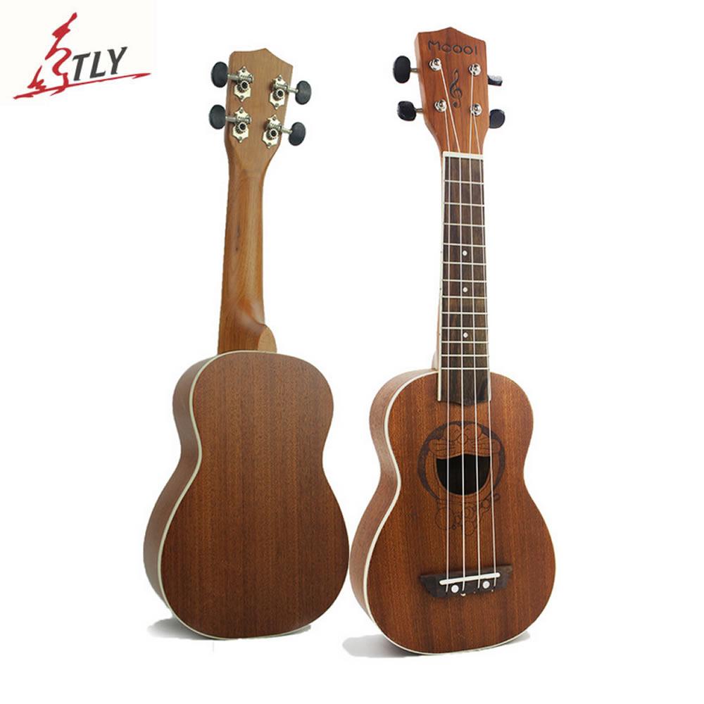 """Mcool 21 """"Ukelele vyřezávané Doraemon Sapele dřevo Soprán Ukulele Uke Rosewood Fingerboard Mini kytara Havaj 4 strunné nástroje"""