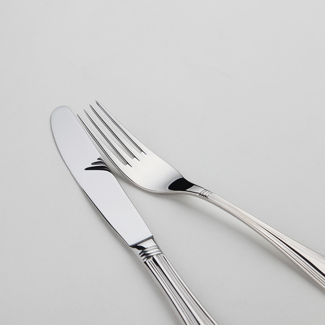 Stainless Cutlery 24 Flatware Sets Silver Salad Luxury Restaurant Kitchen Wedding Dinner Beautiful Dinnerware Tableware Knife