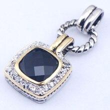 Черный оникс женщина 925 пробы серебряный кристалл кулон TE362
