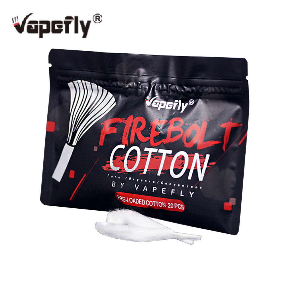 Original Vapefly Firebolt Organic Cotton Wick Material For Coil Building 100% Organic Cotton For DIY Lovers Electronic Cigarette