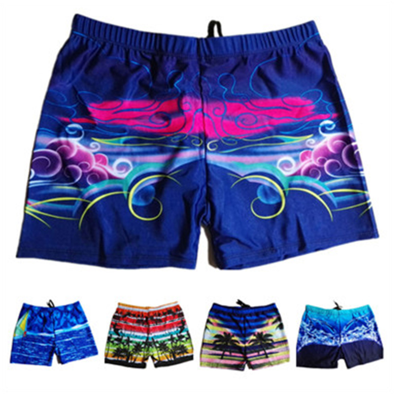 Swimwear   Board     Shorts   Mens Boardshorts Bermuda Surf Swimming   Shorts   Swim Trunks Coconut tree print Beach Sports Suit   Short