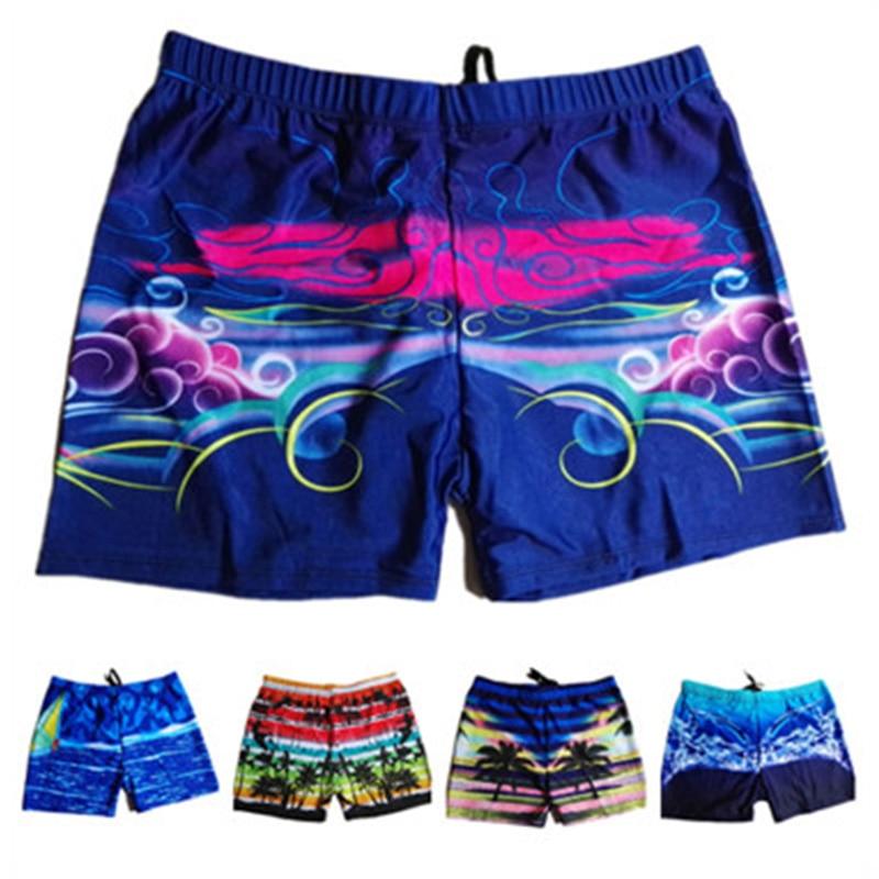 Swimwear   Board     Shorts   Mens Boardshorts Bermuda Surf Swimming   Shorts   Swim Trunks Coconut tree print Beach Sports Suit   Short
