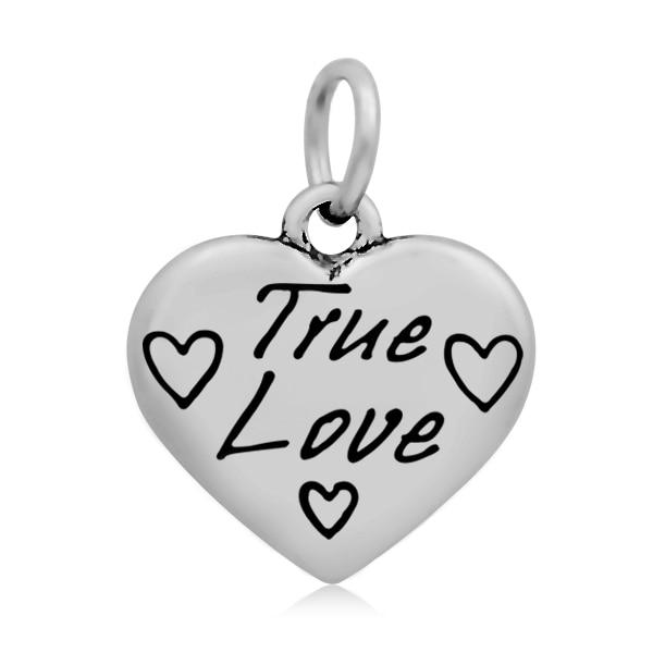 ccb329ce060b Qiming 10pcs17x21mm verdadero amor impresión del corazón Amuletos Acero  inoxidable Amuletos brazalete pulsera mujeres moda colgante collar de  fabricación