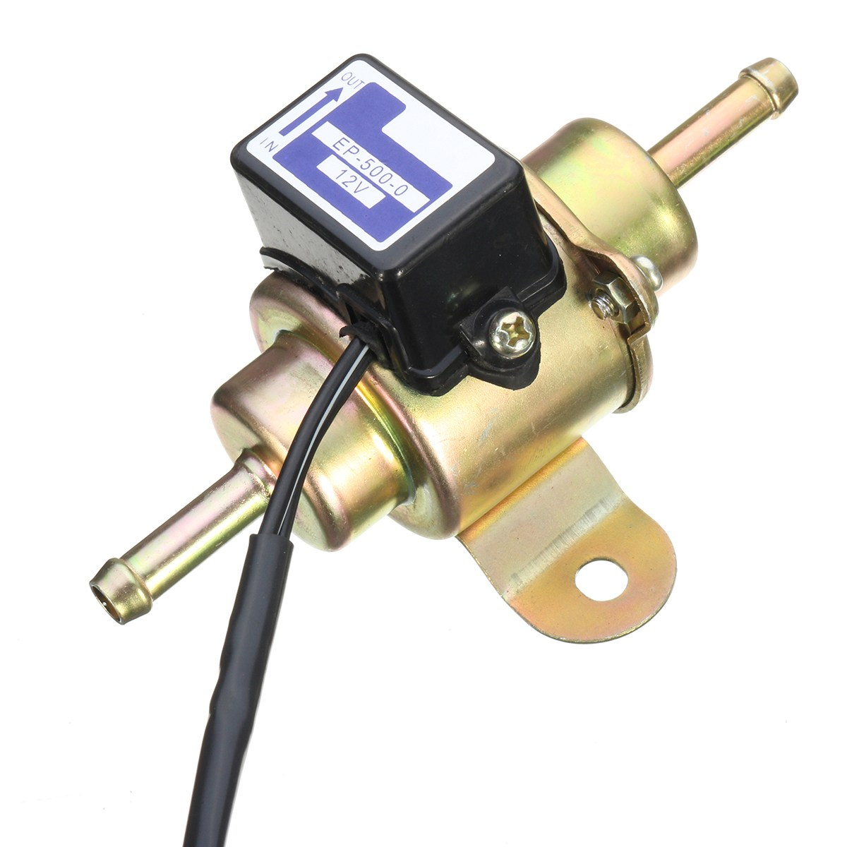12V Universal Low Pressure Gas for Diesel Electric Fuel Pump 1/4 Tubing For Motorcycle ATV EP5000 title=