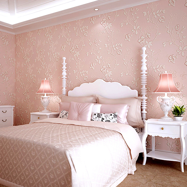 Modern Garden Flower Print Living Room Bedroom Wallpaper Roll 3D ...