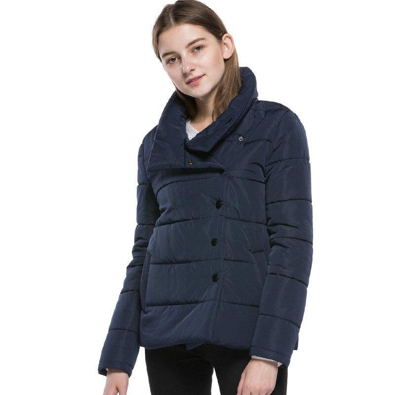 2018 New Fashion Winter Jacket Women Turn Collar Winter Coat Women Parkas Warm Down Jacket Female Outerwear