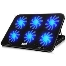 Охладитель для ноутбука ICE COOREL 2 usb порта и шесть охлаждающих вентиляторов охлаждающая подставка для ноутбука Подставка для ноутбука 12-17 дюймов для ноутбука