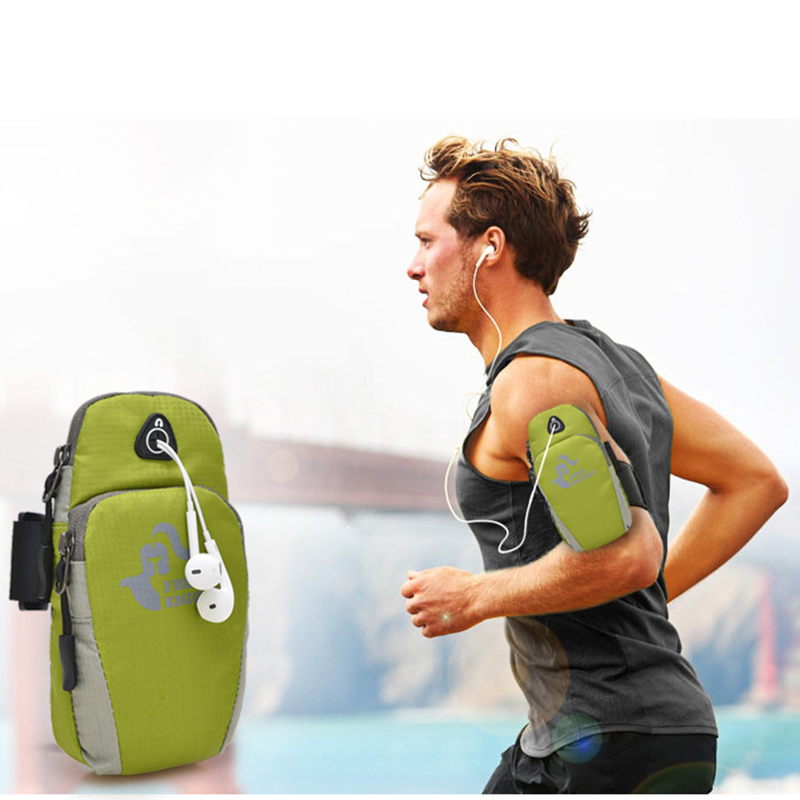 DuDa Sports Armband Cell Phone Holder Case Arm Band Strap With Zipper Pouch For Mobile Exercise Running Workout