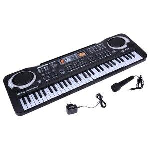 61 клавиша Цифровая музыка электронная клавиатура клавишная доска Электрический пианино детский подарок штепсельная вилка ЕС