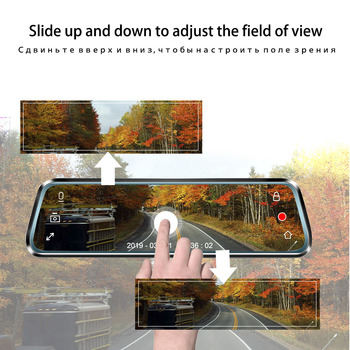 Volemer 10 inch Touch screen Camera DVR Rear View Mirror Dash cam Full HD Car Camera 1080P Back Camera Dual lens video Recorder