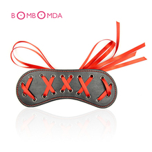 Pu Leather Sex Eyes Mask Sex Erotic Slave Fetish Nightlife Flirting Role Play Sex Toy For Couple Shame Game