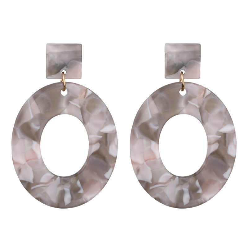 Fashion Acid Acrylic Resin Earrings Dangle Oval Earring for Women 2019 New Long Pendant Earring Fashion Jewelry Custom Wholesale