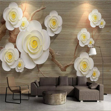 3D modern minimalist living room floral background wall professional production wallpaper murals custom photo