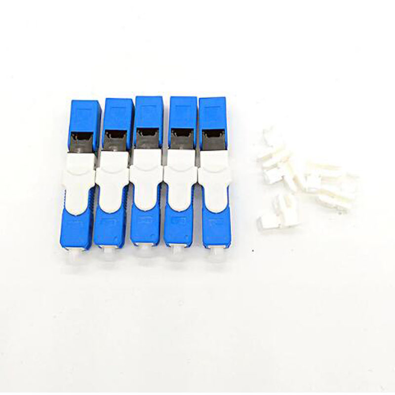 100PCS FTTH SC UPC Optical fibe quick connector SC PC FTTH Fiber Optic Fast Connector Embedded