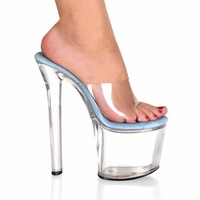 Sexy 8 Inch Transparent Crystal Jelly Shoes Heels Women Summer Sandals Fashion High Heel Slippers Sexy
