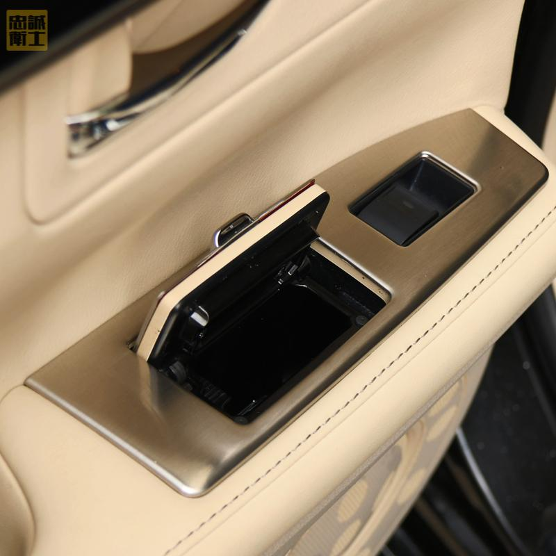 For Lexus  ES250 300h 350 armrest refit window glass lifts refitted light switch stainless steel  panel  (for left hand drive ) high quality stainless steel wire drawing water glass holder panel 1pcs for lexus 2016 rx200 rx450h accessories