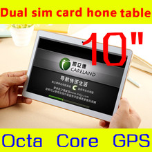 1280*800 IPS tableta 10 octa core mtk6592 3G, 4g tableta de la llamada de teléfono de 4 GB/64 GB dual sim Android Tablet PC, GPS 10 mp 5.1