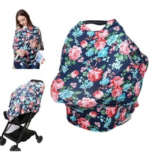 Baby Nursing Cover Breastfeeding Scarf Infant Towel Cover Baby Car Seat Canopy High Chair Cover Floral Baby Feeding Cover