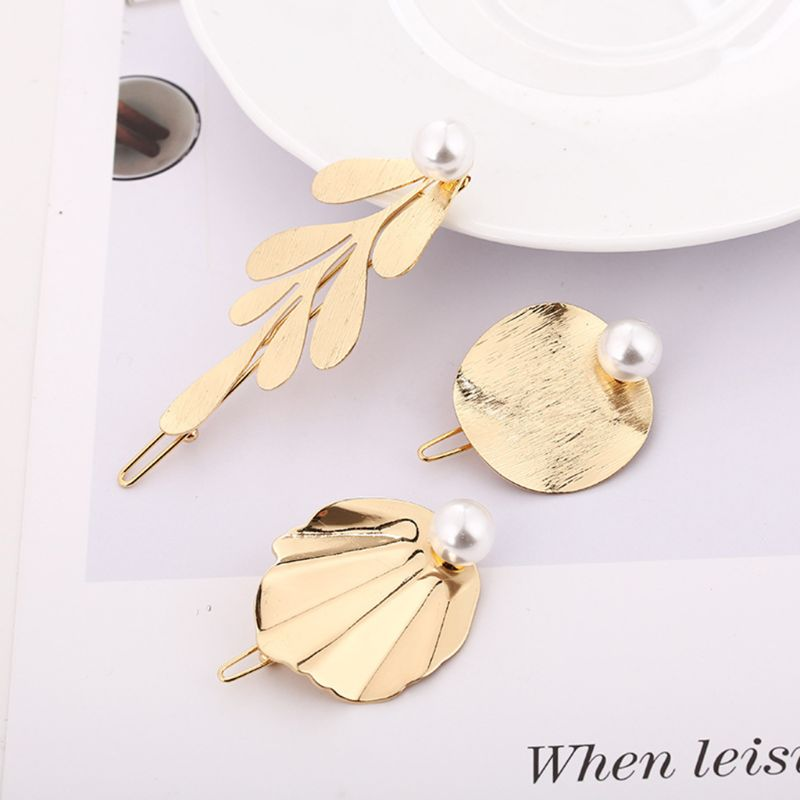 Minimalist Metal Alloy Frog Bobby Pins Women Girls Cute Drawbench Leaves Imitation Pearl Hair Clips Glitter Geometric Barrettes in Women 39 s Hair Accessories from Apparel Accessories