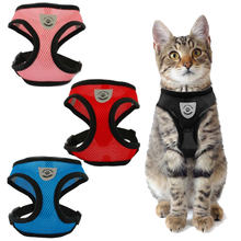 Mesh Cat Harness and Leash Breathable Reflective Kitten Cats Harnesses Small Dog Puppy Harness for French Bulldog Chihuahua Pug(China)